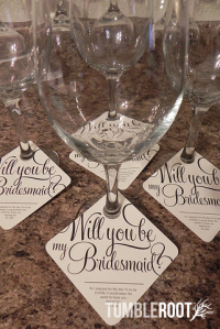 bridesmaid gift, glass, wedding party