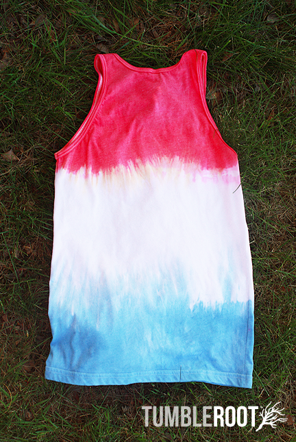 hand dyed patriotic tank - unisex - back