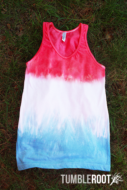 hand dyed patriotic tank - unisex - front