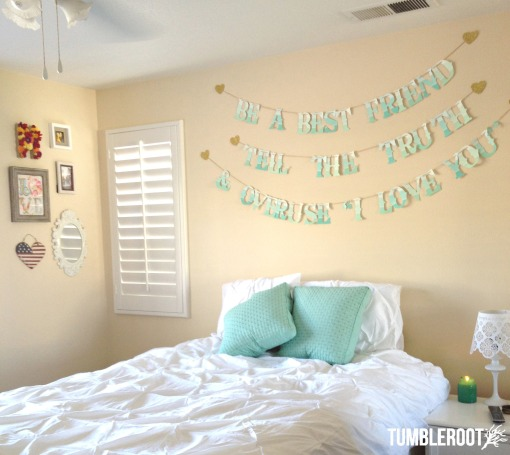 Our sign was the perfect touch to this bedroom!