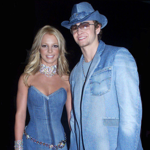 Justing Timberlake and britney spears in demin